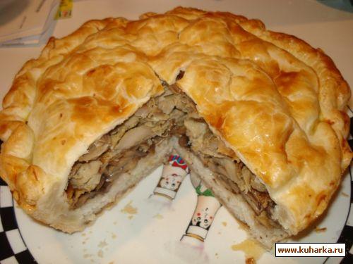 Рецепт курника с мясом и картошкой с фото